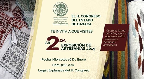 "Vuelven al Congreso manos mágicas con ""Exposición de Artesanías"""