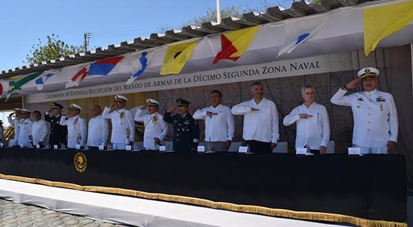 Cambio de mando en la décimo segunda zona naval